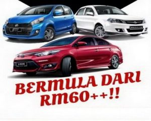 Harga Kereta Sewa Bangi Serendah RM60 Sehari